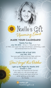 R184 Noelle's Gift - Upcoming Events ad