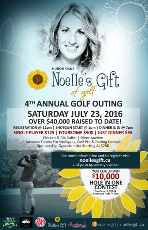 R166 Noelle's Gift - Gift of Golf Poster-R1